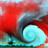 Kites rise highest against the wind